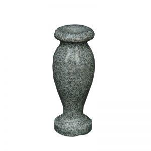 China Grey Granite Stone Cemetery Flower Vase