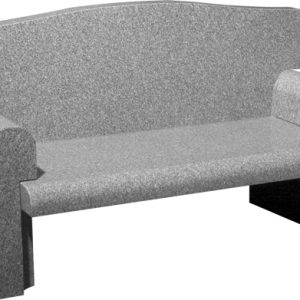 Granite Stone Memorial Cemetery Bench