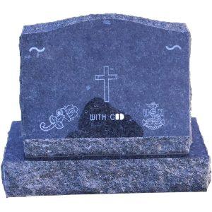 slant gravestones