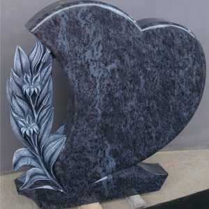 Bahama blue granite headstone