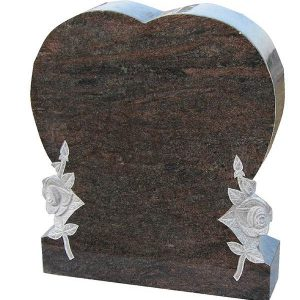 Aurora granite upright headstone for sale
