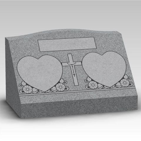 Granite gravestone upright headstone